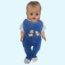Vintage 1960's early large vinyl boy playpal style doll super sweet marked J.C. on neck 19""