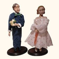 1985 and 1986  Dolls of the Year B & G Porcelain Trine and Hans MIB perfect