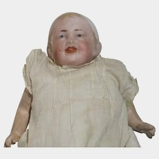ANTIQUE Bisque Doll RECKNAGEL Character Bonnet Head Baby 28 12/0 Germany