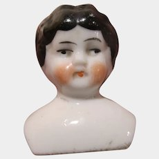Very old Germany tiny miniature porcelain head doll bust