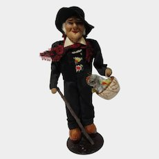 1930's Bernard RAVCA original stockinette doll Man with chicken Paris France