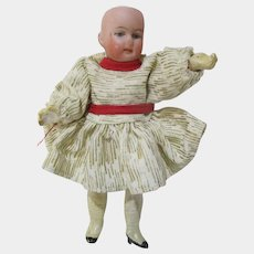 """5"""" Herman Steiner miniature bisque Germany doll composition body"""