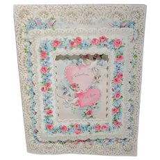 """Beautiful Vintage full size 9-1/2"""" by 7-1/2"""" Valentine card for Mother unused boxed"""