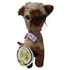 "RARE Disney 1965 That Darn Cat stuffed cat toy with original tag 12"" D.C."
