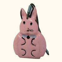 Adorable Vintage doll sized miniature Easter Bunny purse plastic