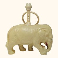 Vintage Large all Celluloid Baby Rattle Elephant toy Pachyderm