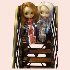 Two Original  1972 Kenner Blythe dolls with working eyes, no body splits! Nice!