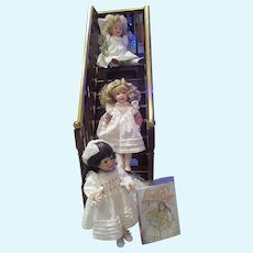 Alice, Allegra & Edith~Complete Matched # Numbered Dolls by Wendy Lawton 13""