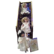"""Alice, Allegra & Edith~Complete Matched # Numbered Dolls by Wendy Lawton 13"""""""