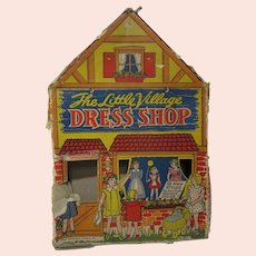 1937 Transogram The Little Village Dress Shop with bisque doll patterns