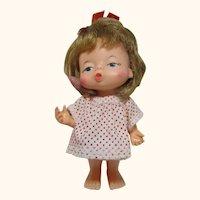 All original IDEAL 1967 RARE doll Little Pucker kissy chubby butt
