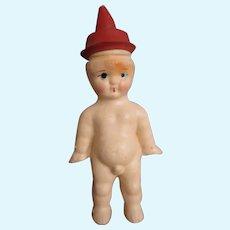 Adorable little nipple hat boy who pees doll vintage Japan bisque