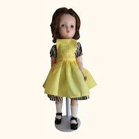 "Madame Alexander 18"" Binnie Walker doll Cissy face"