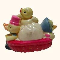 Vintage Easter Parade Celluloid decoration float Ducks