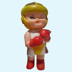 Vintage Champion baby rubber squeak toy by IWAI