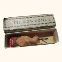Very Old miniature Satan in a box pop out toy Halloween Gebr. Schutz