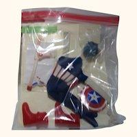 Vintage Captain Action Captain America disguise complete with gun rARE
