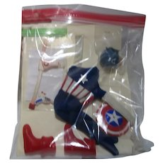 Vintage Captain Action Captain America disguise complete with gun rARE