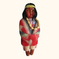 Vintage Native American Skookum Bullygood doll bought from Oklahoma 1951