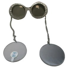 1970's Silver wrap-around earring style SUNGLASSES