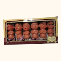 Silly funny face emotion characters in original box rubber dolls
