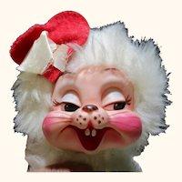 Vintage Rushton Valentine Skunk rubber face plush toy