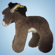 Miniature Donkey STEIFF Assy with tag and ear button. Super soft and sweet #1510/14
