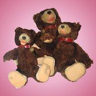 SUPER RARE TEDDY BABY Steiff teddy bears 3 sizes vintage authentic bears one growls still! 1957