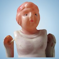 Small Celluloid Football player doll vintage #5 occupied Japan