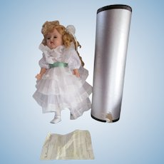 """Gorgeous 1951 Artisan Raving Beauty Doll 20"""" blonde in her original tub canister box"""