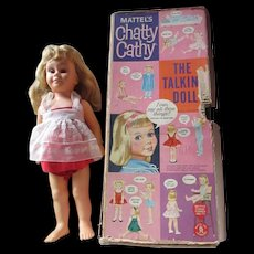 Chatty Cathy doll in original box MUTE 1950's original not repro TLC needed