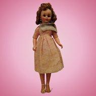 "Revlon type 14R Fashion doll in vintage dress fur stoll  19"" beauty"