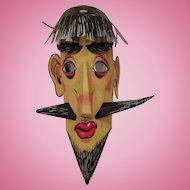 Old Beatnik paper mask odd thing