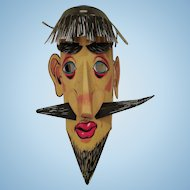 Old Beatnik paper mask odd thing