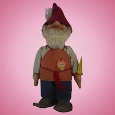 "Vintage Steiff Gnome doll named GUCKI with original tag on chest 7"" tall felt"