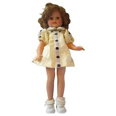 Vintage IDEAL Shirley Temple doll 1950's in yellow dress with under dress and panties 15N vinyl pretty