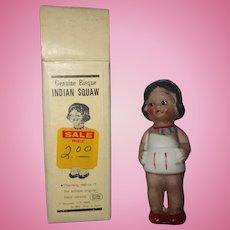 Vintage Native American boxed original bisque doll girl super cute