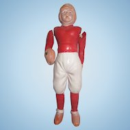 """Vintage celluloid football player #2 measure 4.5"""""""