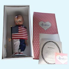 """1996 Olympic Skippy and Olympic Patsy Effanbee 14"""" pair of dolls adorable, need restrung"""