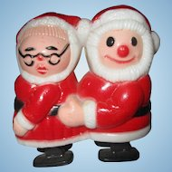 RARE vintage Santa and Mrs. Claus Ramp Walker toy