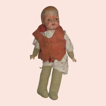 1928 RED PETER PAN Ideal doll composition advertising premium doll RARE