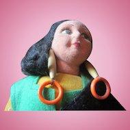 "Norah Wellings 12"" felt England made Spainish girl doll nice condition cute"