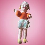 "Little 8"" Norah Welling cloth Dutch girl doll 1940's"