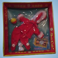 1964 Winter Angel outfit for Suzy Cute DeLuxe REading Topper doll 7""