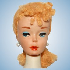 Vintage Blonde Transitional #3 Ponytail Barbie Doll w/Braid