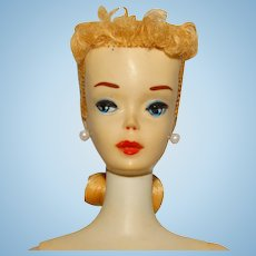 Vintage Blonde #3 Ponytail Barbie Doll Ghostly White