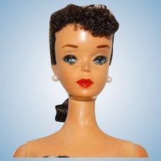 Vintage Brunette #3 Ponytail Barbie Doll w/Blue Eyeliner