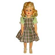 "Vintage 1950s Unmarked 14"" Hard Plastic Blonde Doll"