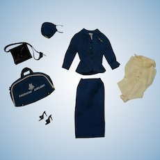 Vintage Barbie Complete American Airlines Stewardess Outfit