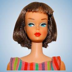 Vintage Silver Brunette Long Hair High Color American Girl Barbie Doll